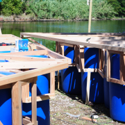 The Jellyfish Barge is under construction